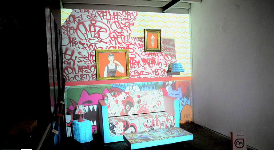 Mise en lumière par Pixel Events du Showroom d'Eco Fabrik au Pôle Écologique du Pays d'Arles