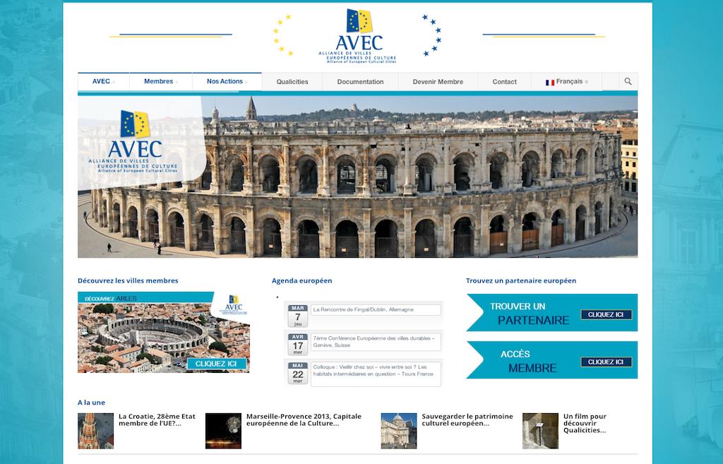 Création de Site Institutionnel pour AVEC à Arles
