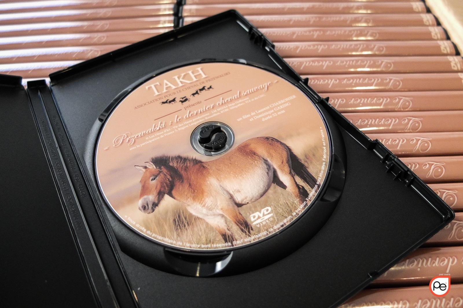 Duplication de DVD pour l'Association Takh pour le cheval de Przewalski