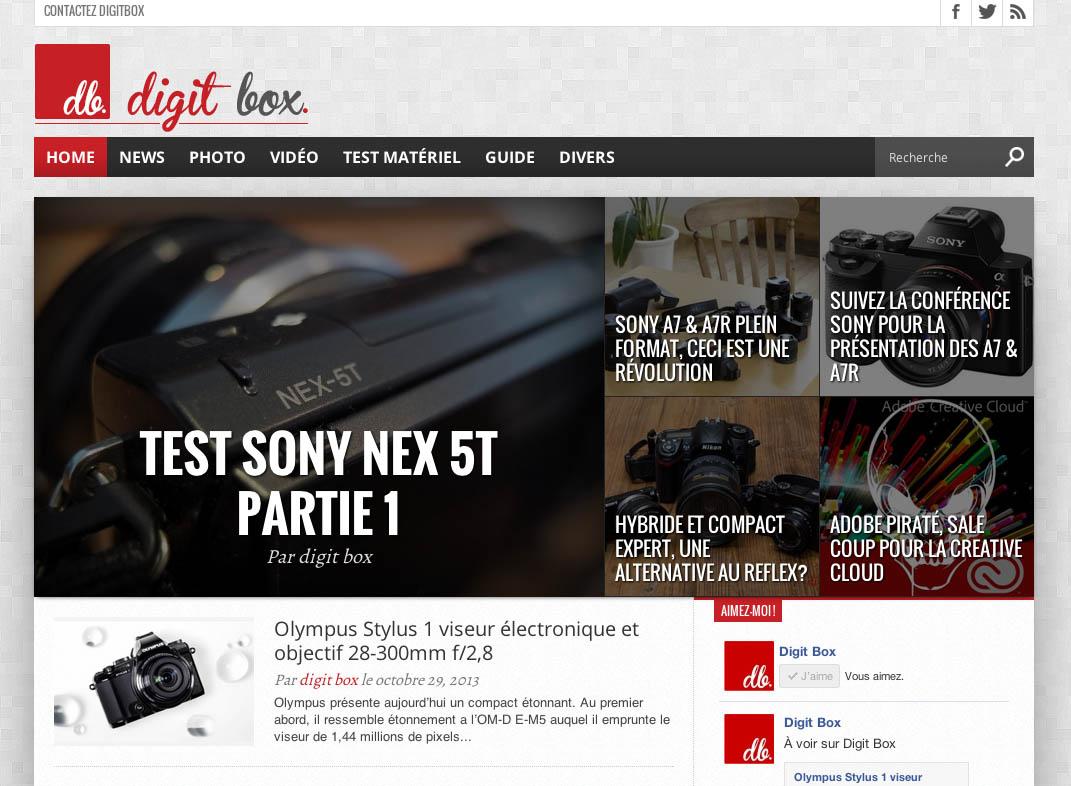Création du site Internet Digit Box