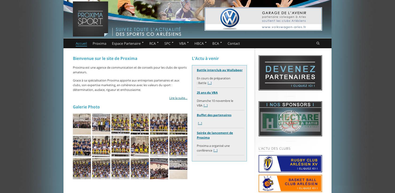 Création du site Internet de Proxima Sport à Arles
