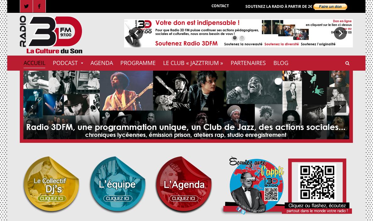 Création du site Internet de la Radio 3DFM à Arles