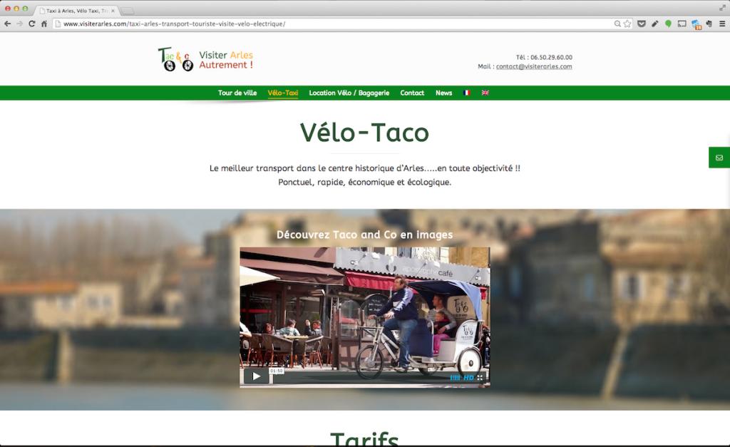 Visiter Arles - Création de site Internet