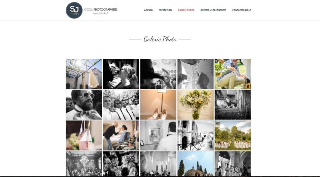 Création de site Internet à Arles pour SJ Studio photographe de mariage.