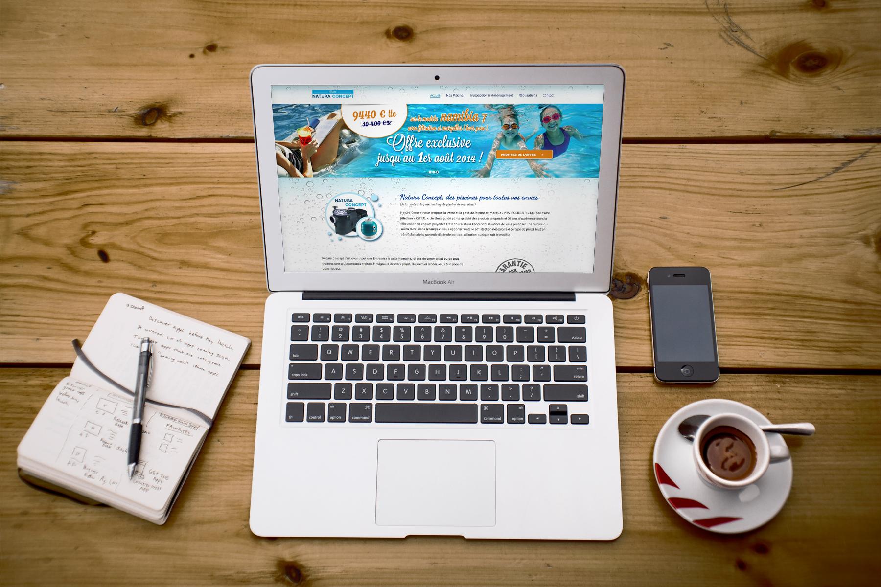 Création du site Internet Piscine Natura Concept