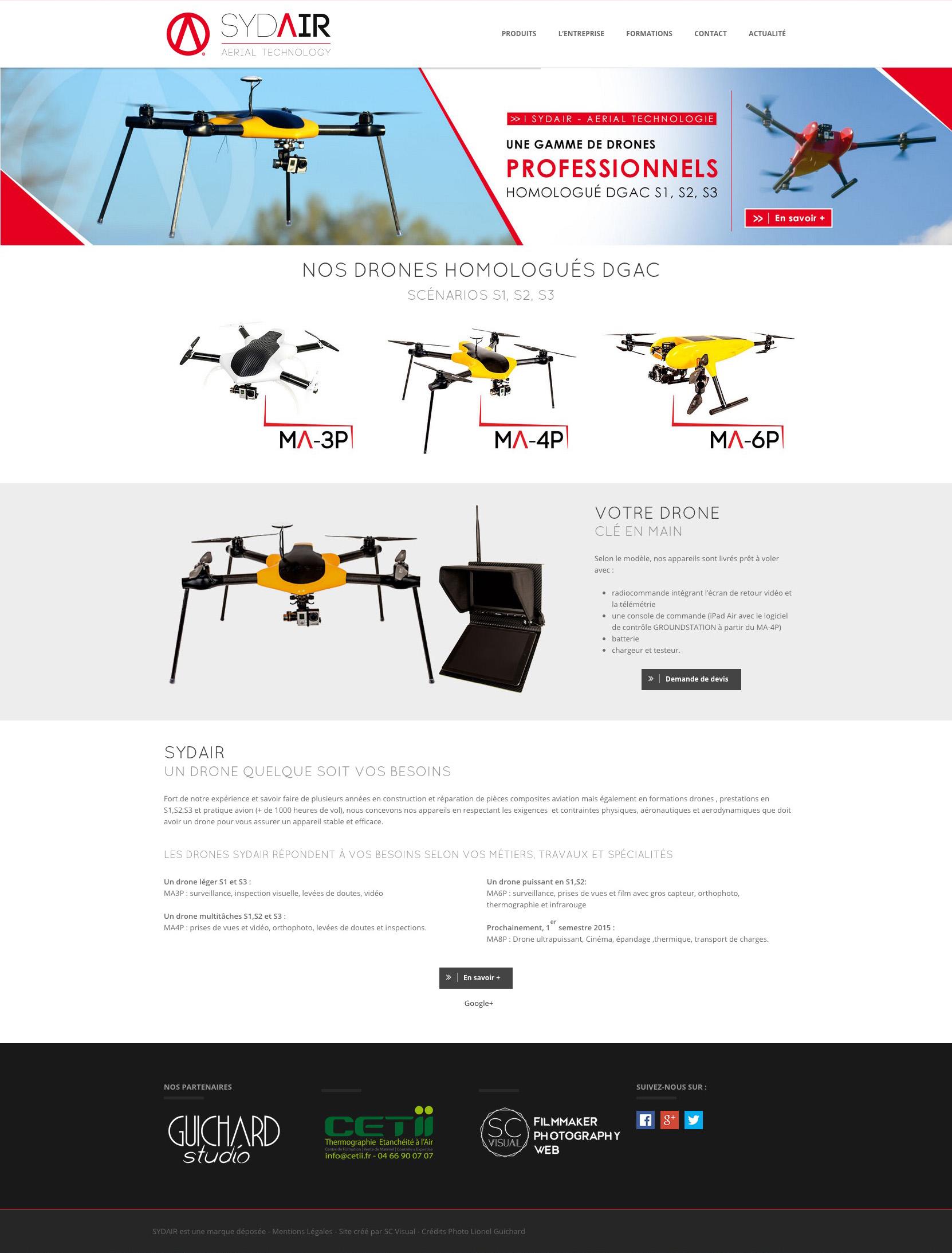 Création de site Internet Arles - Sydair fabricant de drone