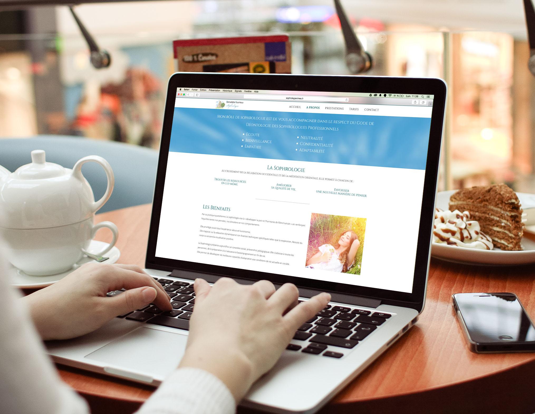 Création de Site Internet : Sophrologienimes.fr