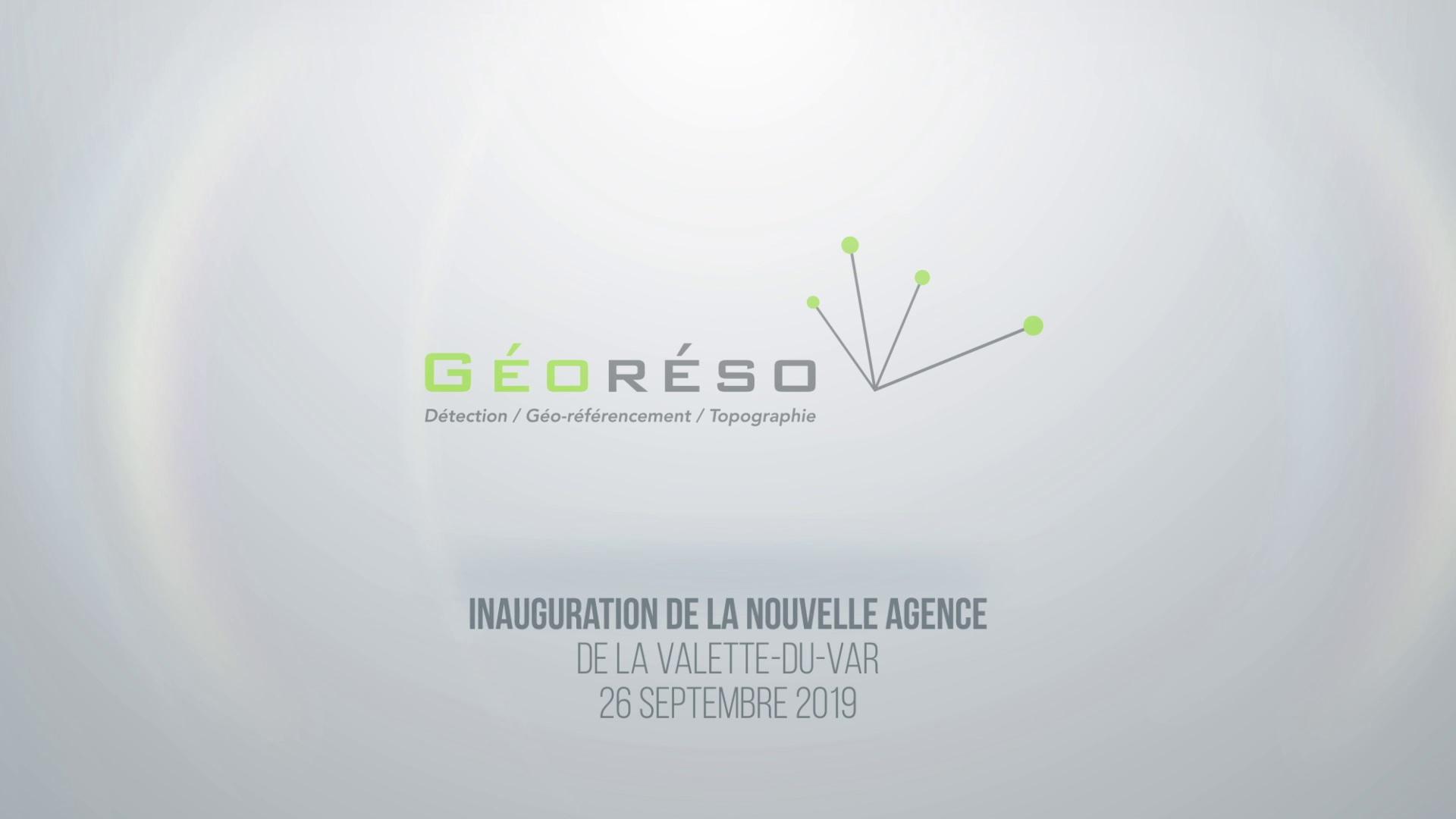 Reportage vidéo inauguration Géoréso avec l'Agence Civilis
