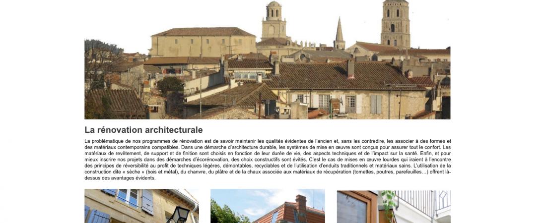Réalisation de site Internet – Architecte à Arles Eric Bachy Architecture ECO