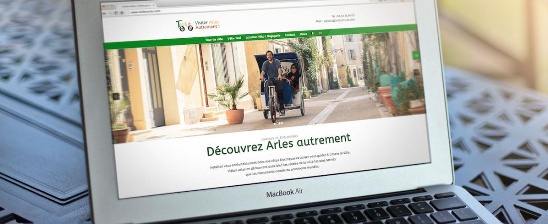 Création du site Internet Visiter Arles pour Taco and Co