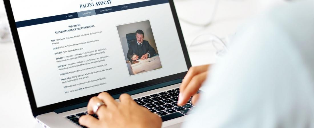 Création de Site Internet – Sébastien Pacini Avocat à Marseille