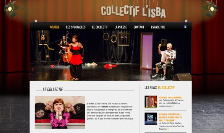 Création du site internet du Collectif l'Isba à Arles