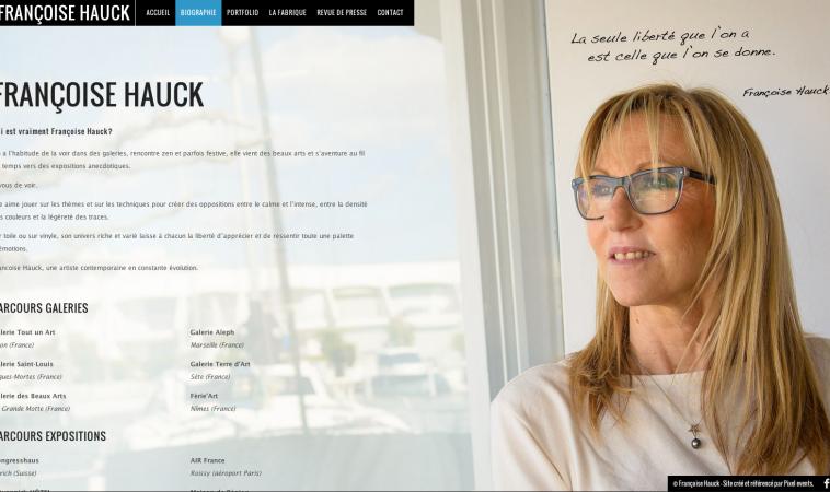 Création de site Internet pour l'Artiste peintre Françoise Hauck